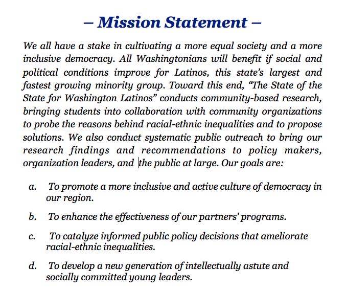 Example Of Personal Mission Statement Students Gallery Example